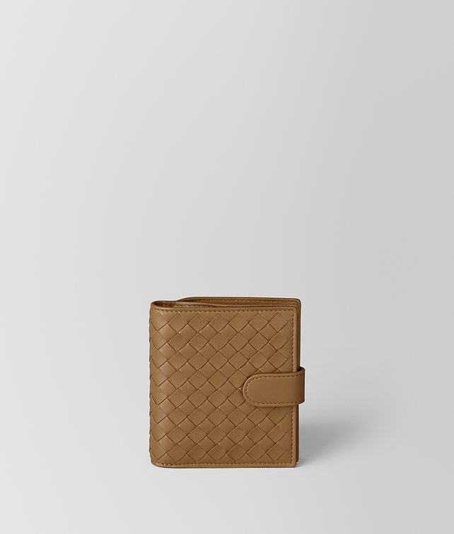 BOTTEGA VENETA CAMEL INTRECCIATO NAPPA MINI WALLET Small Wallet [*** pickupInStoreShippingNotGuaranteed_info ***] fp