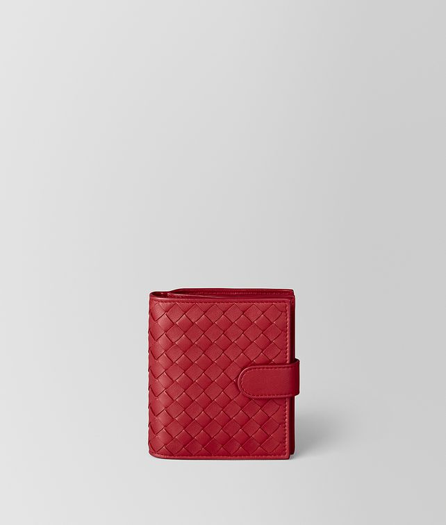 BOTTEGA VENETA CHINA RED INTRECCIATO NAPPA MINI WALLET Small Wallet [*** pickupInStoreShipping_info ***] fp