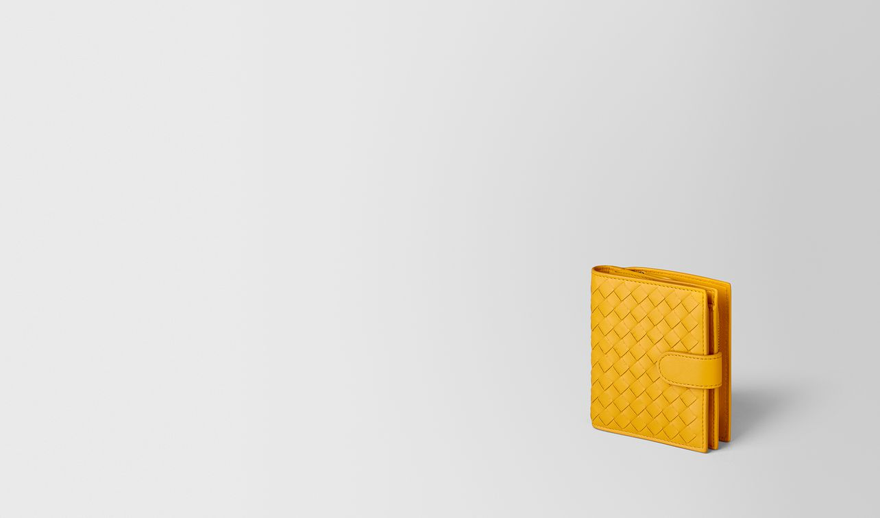 sunset intrecciato nappa mini wallet landing
