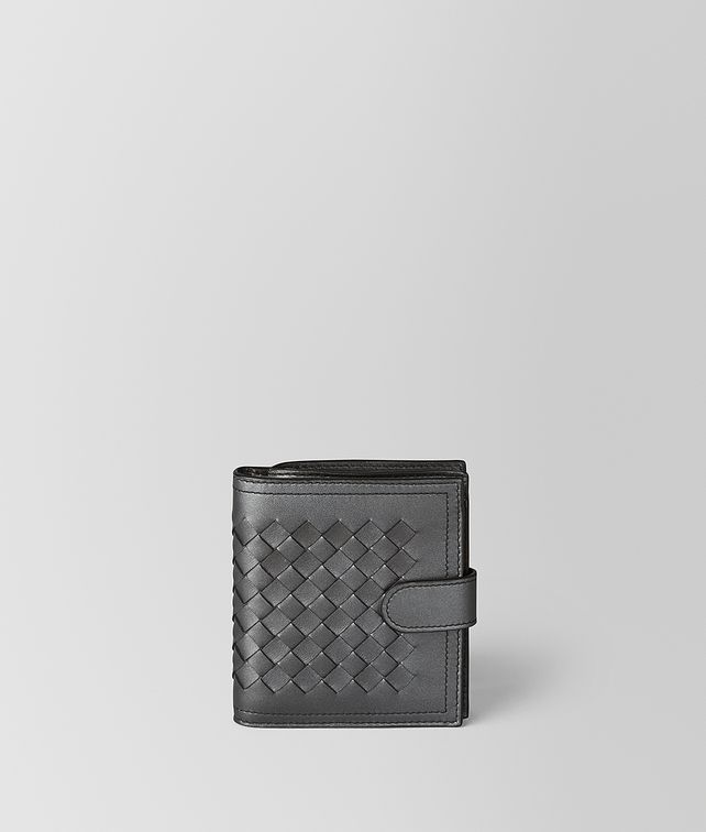 BOTTEGA VENETA ANTIQUE SILVER INTRECCIATO NAPPA MINI WALLET Mini Wallet [*** pickupInStoreShipping_info ***] fp