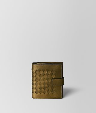 DARK GOLD INTRECCIATO NAPPA MINI WALLET