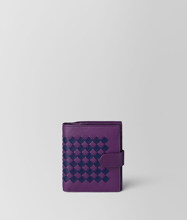 BOTTEGA VENETA MONALISA/ATLANTIC INTRECCIATO CHECKER MINI WALLET Small Wallet [*** pickupInStoreShipping_info ***] fp