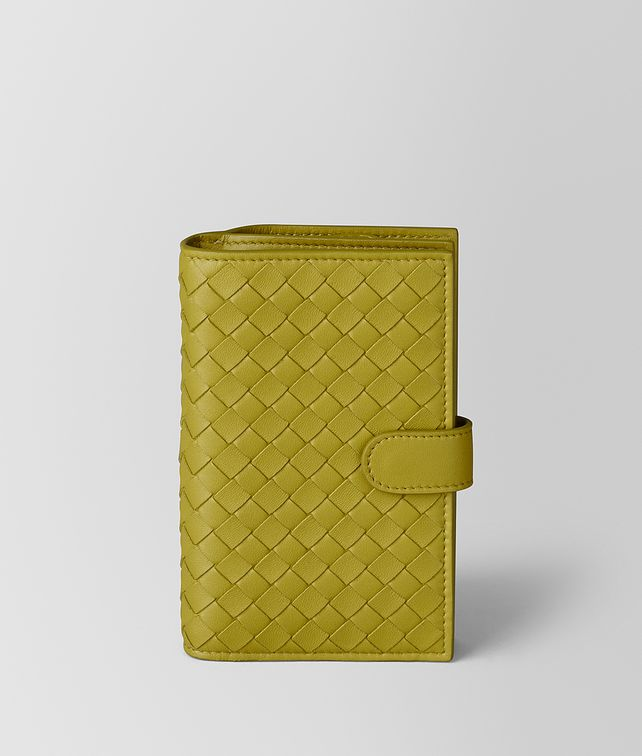 BOTTEGA VENETA CHAMOMILE INTRECCIATO NAPPA FRENCH WALLET Continental Wallet Woman fp