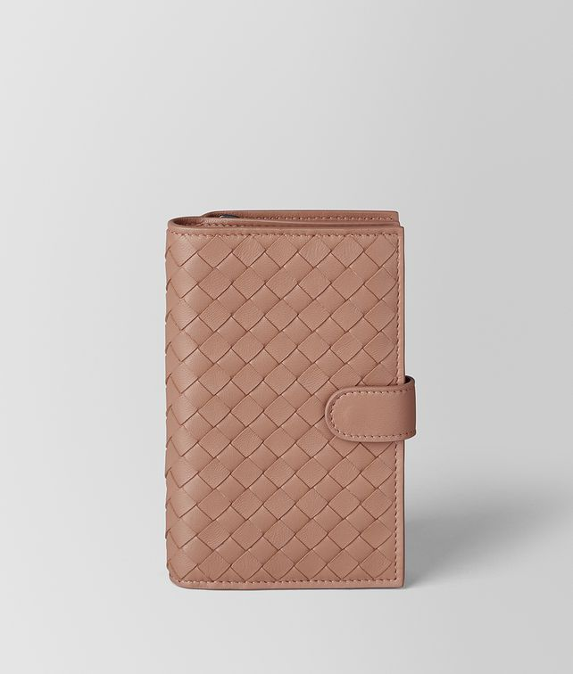 BOTTEGA VENETA DAHLIA INTRECCIATO NAPPA FRENCH WALLET Continental Wallet Woman fp
