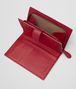 BOTTEGA VENETA CHINA RED INTRECCIATO NAPPA FRENCH WALLET Continental Wallet Woman lp