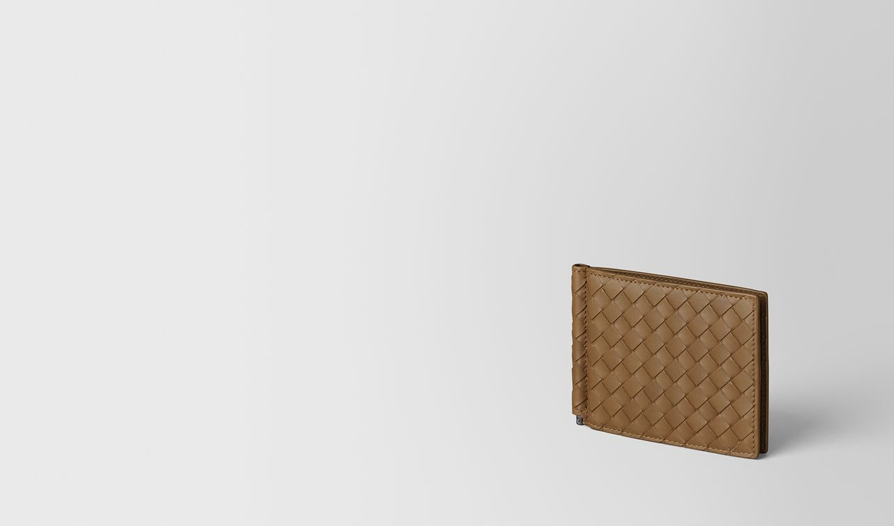 portemonnaie aus intrecciato vn in camel landing