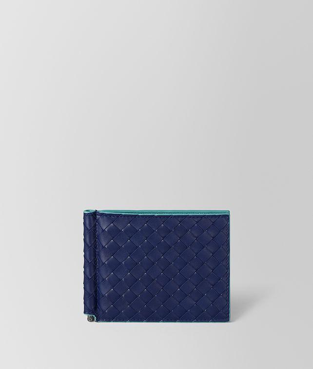 BOTTEGA VENETA ATLANTIC INTRECCIATO VN/AQUA NAPPA WALLET Bi-fold Wallet Man fp