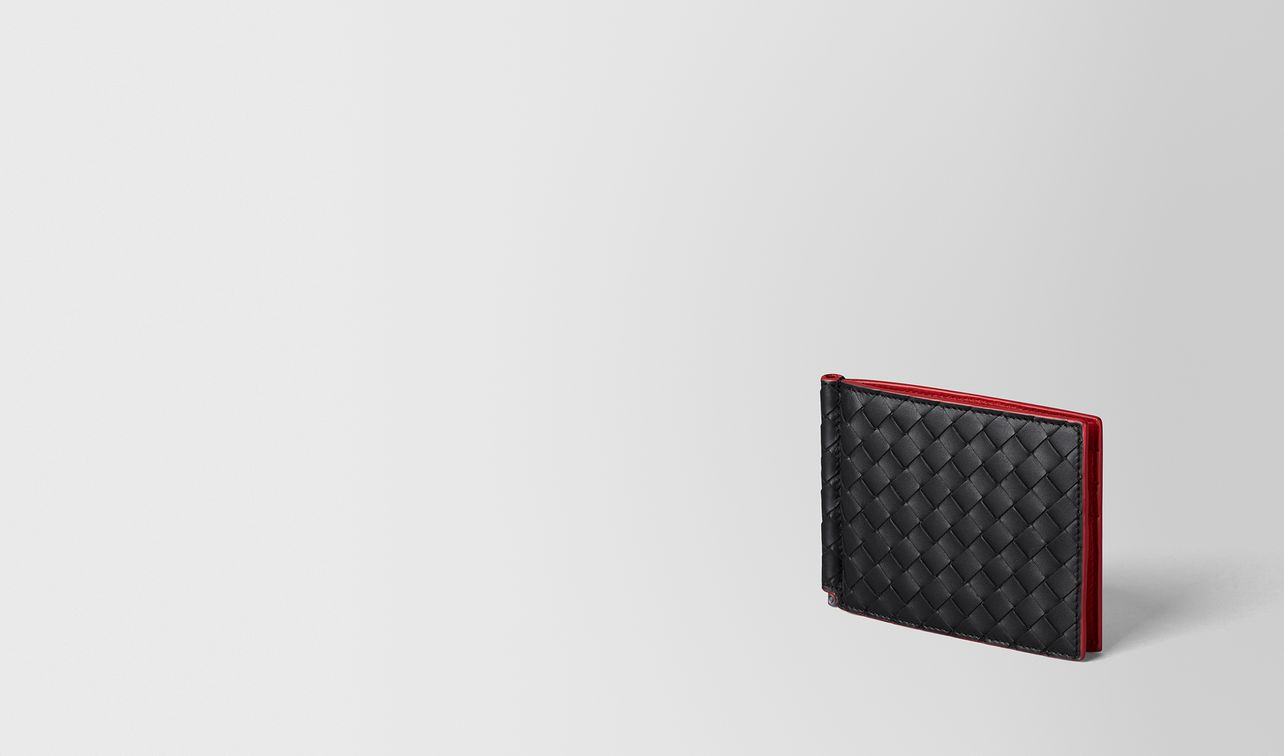 nero intrecciato vn/china red nappa wallet landing