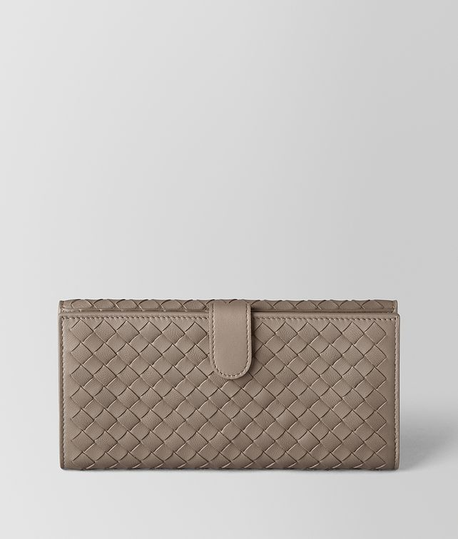 BOTTEGA VENETA LIMESTONE INTRECCIATO NAPPA FRENCH WALLET Continental Wallet Woman fp