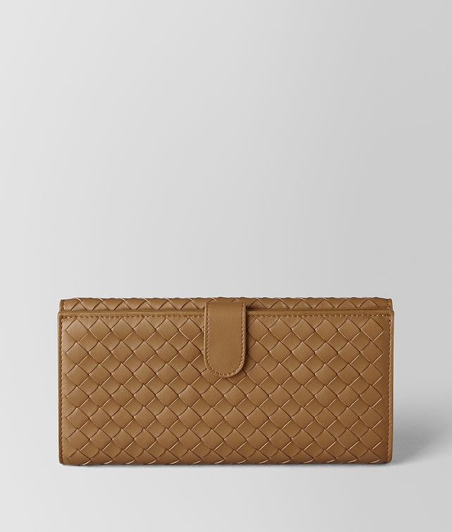 BOTTEGA VENETA CAMEL INTRECCIATO NAPPA FRENCH WALLET Continental Wallet [*** pickupInStoreShipping_info ***] fp