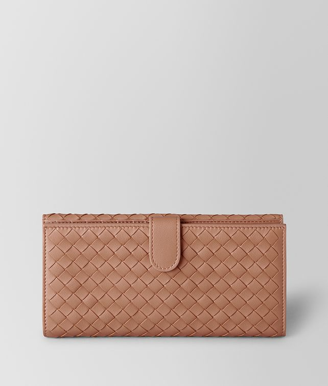 BOTTEGA VENETA DAHLIA INTRECCIATO NAPPA FRENCH WALLET Continental Wallet [*** pickupInStoreShipping_info ***] fp