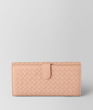 PEACH ROSE INTRECCIATO NAPPA FRENCH WALLET