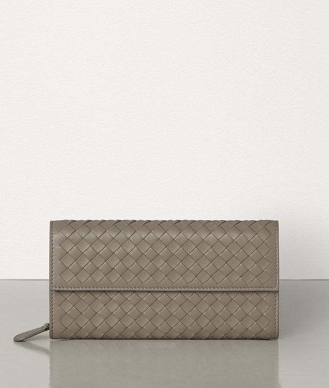 BOTTEGA VENETA CONTINENTAL WALLET IN INTRECCIATO NAPPA Large Wallet Woman fp