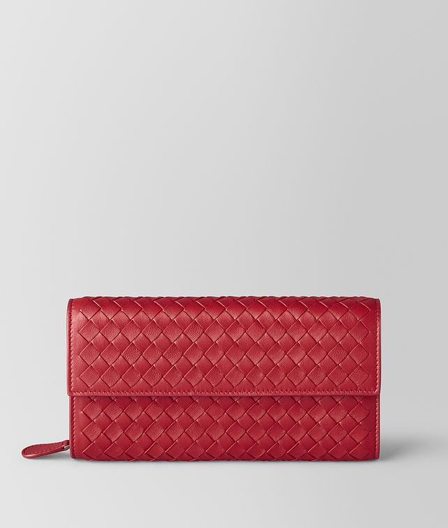 BOTTEGA VENETA CHINA RED INTRECCIATO NAPPA CONTINENTAL WALLET Continental Wallet Woman fp
