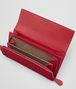 china red intrecciato nappa continental wallet Front Detail Portrait