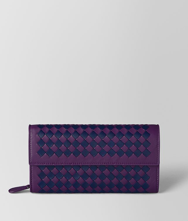 BOTTEGA VENETA MONALISA/ATLANTIC INTRECCIATO CHECKER CONTINENTAL WALLET Continental Wallet Woman fp