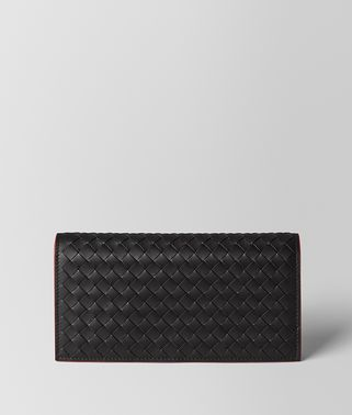 NERO INTRECCIATO VN/CHINA RED NAPPA CONTINENTAL WALLET