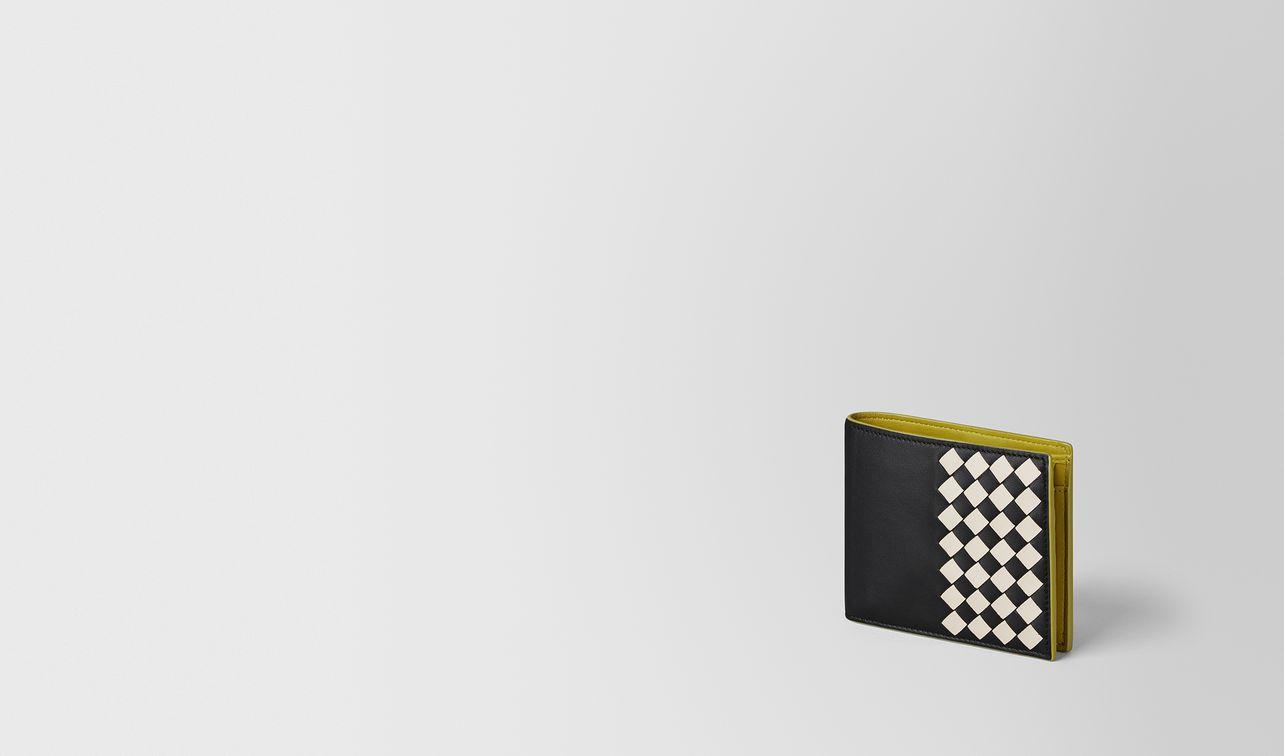 mehrfarbiges portemonnaie aus checker nappa landing