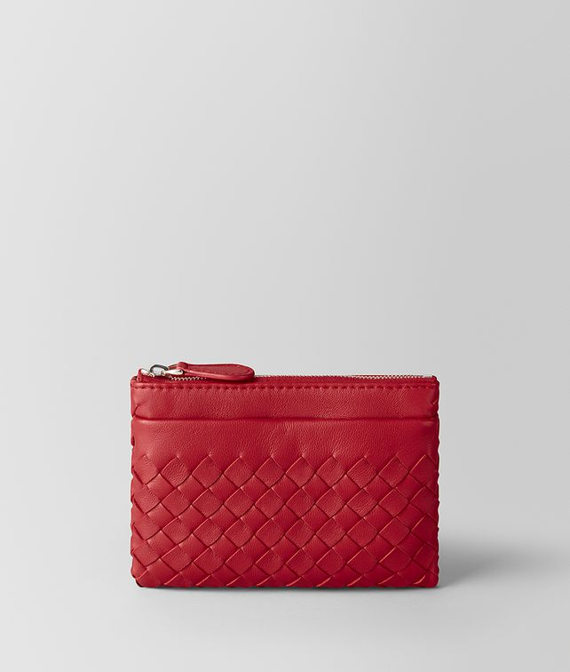 BOTTEGA VENETA CHINA RED INTRECCIATO NAPPA KEY HOLDER Keyring or Bracelets E fp