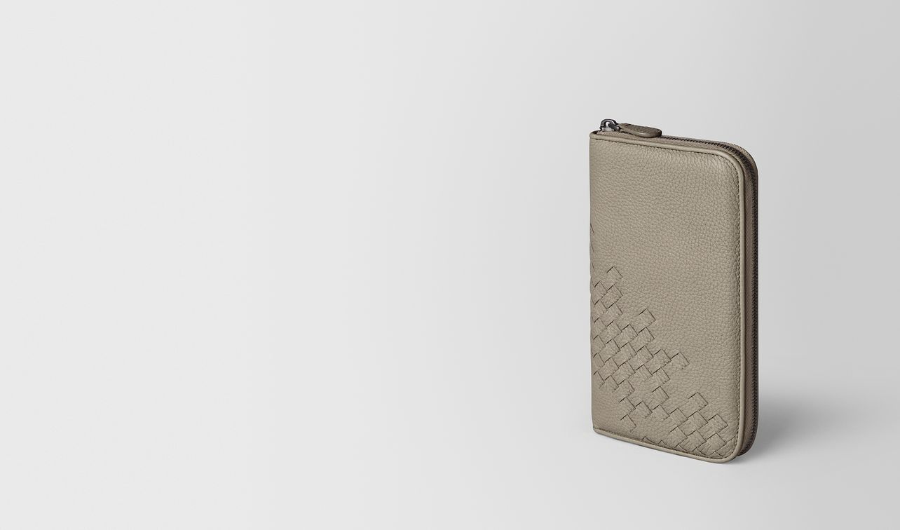dark cement cervo zip around wallet landing