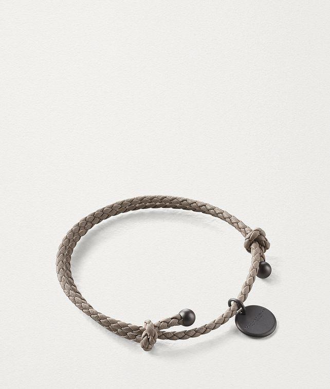 BOTTEGA VENETA LIMESTONE INTRECCIATO NAPPA BRACELET Keyring or Bracelets E fp