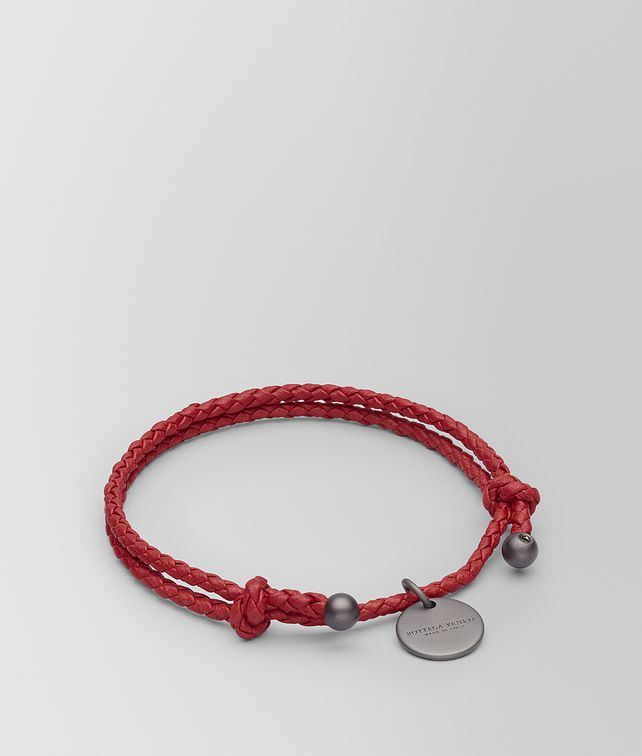 BOTTEGA VENETA CHINA RED INTRECCIATO NAPPA BRACELET Keyring or Bracelets E fp