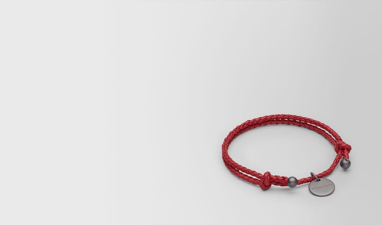 china red intrecciato nappa bracelet landing
