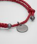 BOTTEGA VENETA CHINA RED INTRECCIATO NAPPA BRACELET Keyring or Bracelets E ap