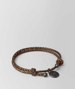 深青铜色编织小羊皮手链