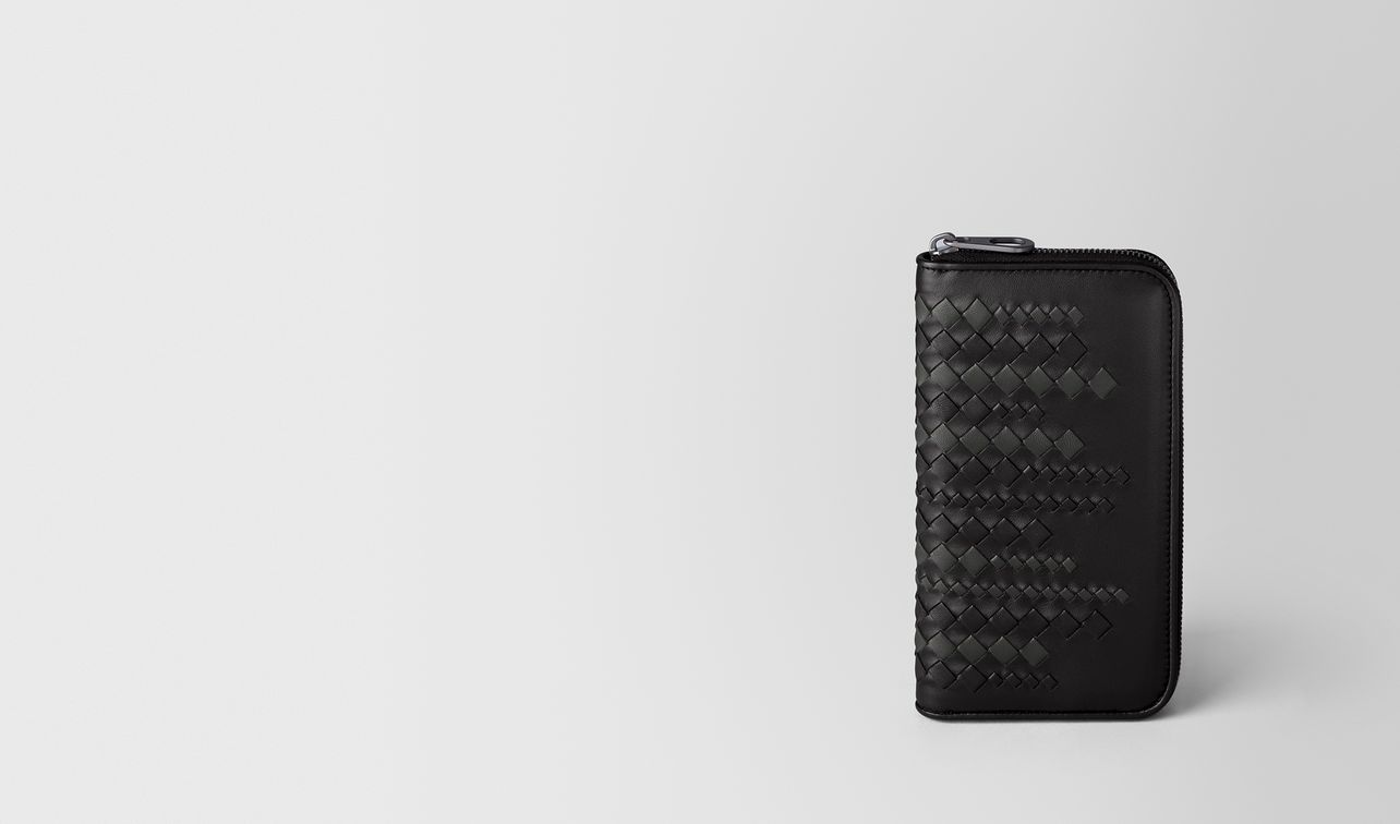 nero/ardoise nappa zip around wallet landing