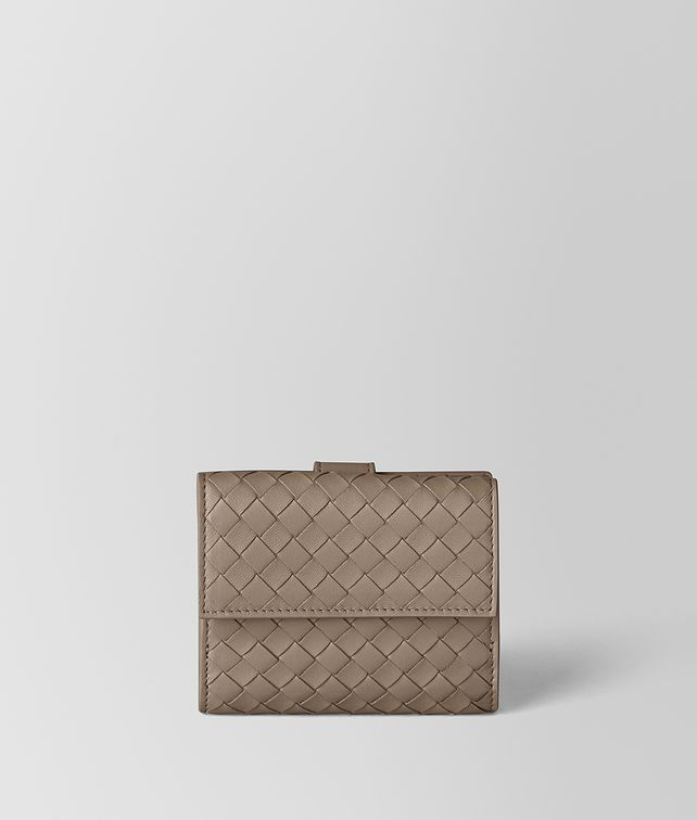BOTTEGA VENETA LIMESTONE INTRECCIATO NAPPA MINI WALLET Small Wallet Woman fp
