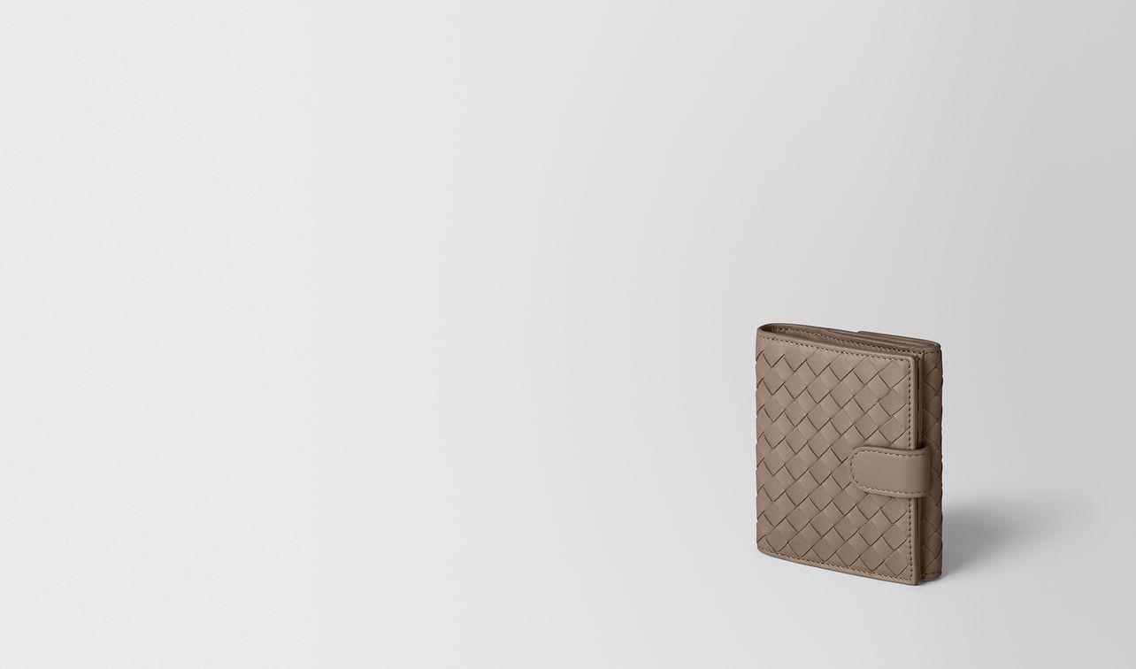 limestone intrecciato nappa mini wallet landing