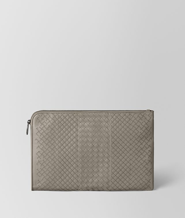 BOTTEGA VENETA DARK CEMENT INTRECCIATO AURELIO CALF URBANDOC Document case [*** pickupInStoreShippingNotGuaranteed_info ***] fp