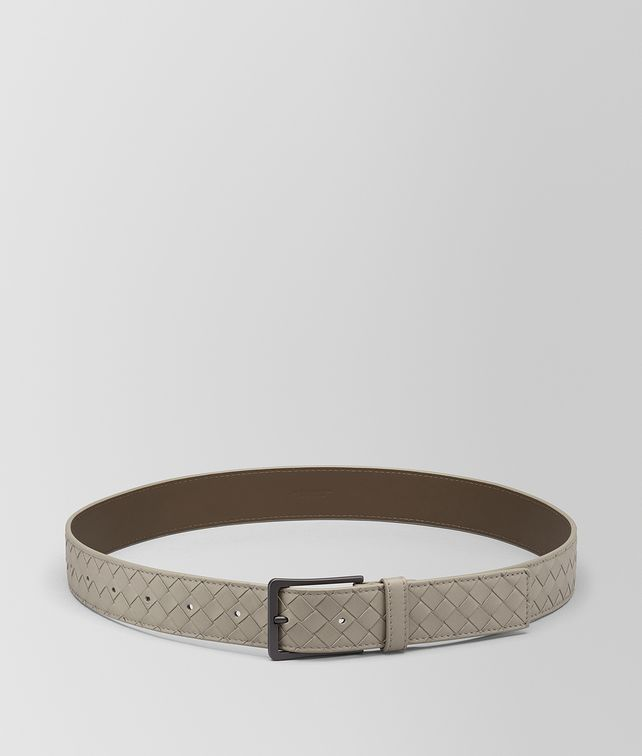BOTTEGA VENETA DARK CEMENT INTRECCIATO VN BELT Belt [*** pickupInStoreShippingNotGuaranteed_info ***] fp