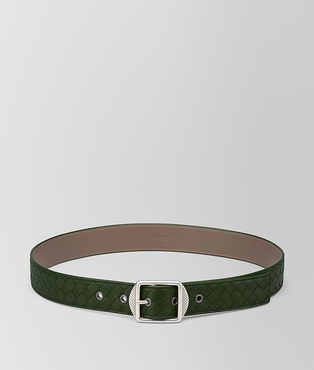 BOTTEGA VENETA FOREST INTRECCIATO NAPPA BELT Belt [*** pickupInStoreShippingNotGuaranteed_info ***] fp