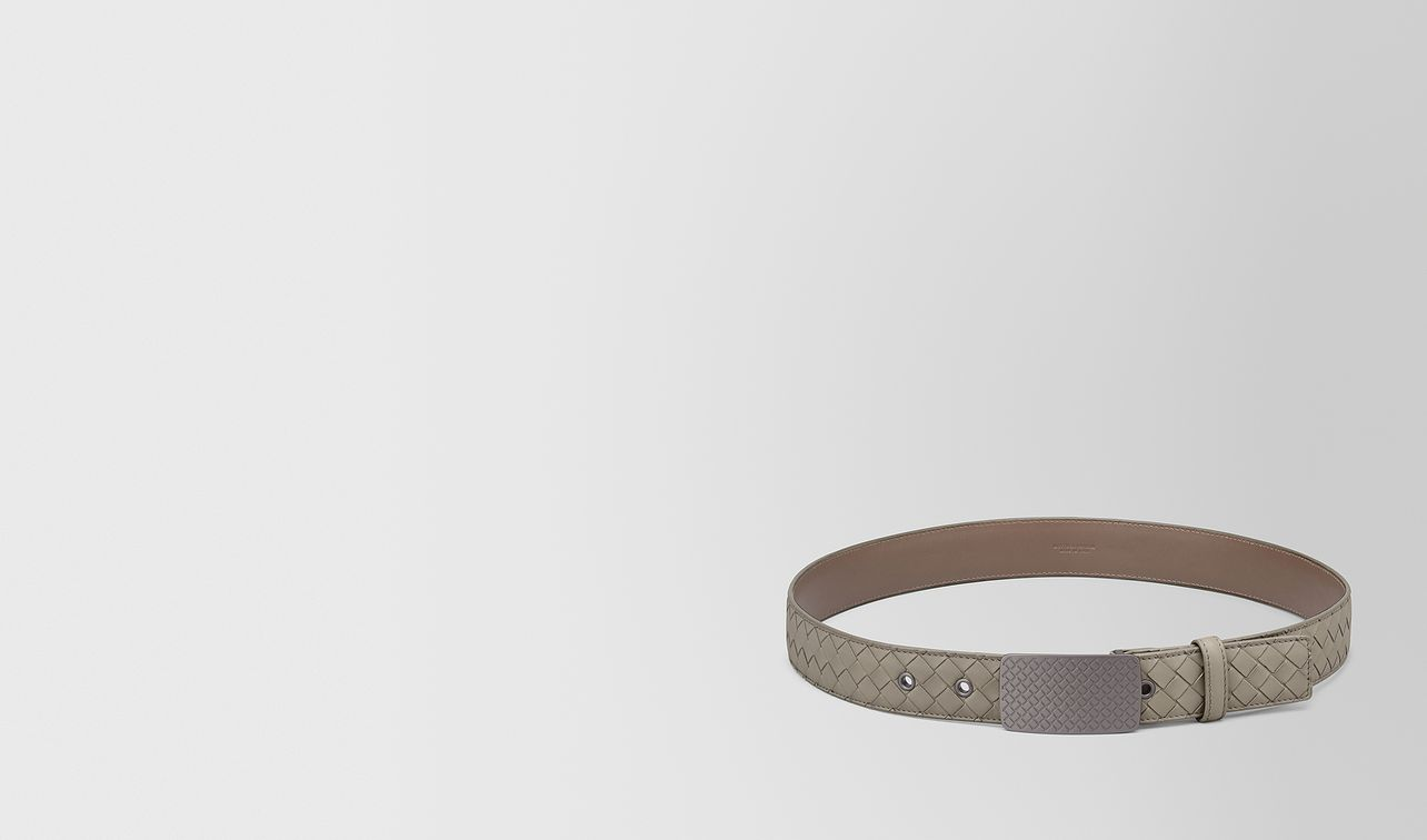 dark cement intrecciato calf belt landing