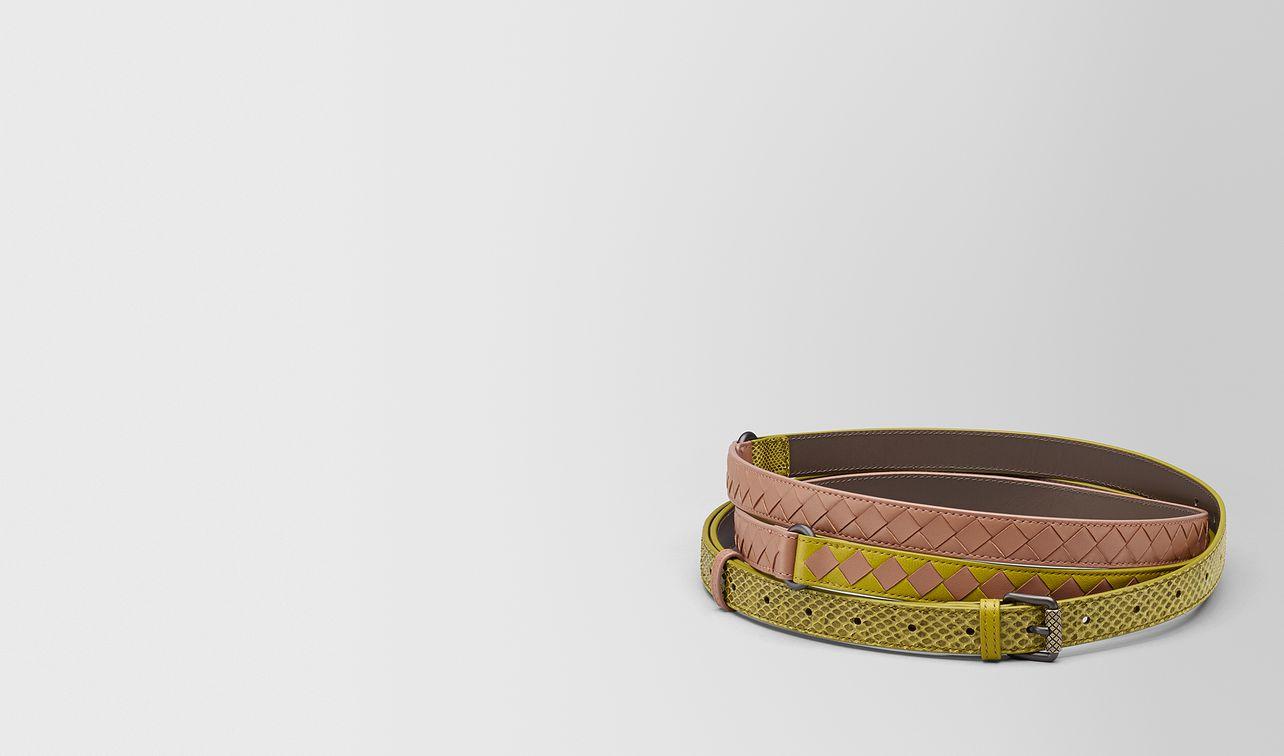cintura in intrecciato check chamomile/dahlia landing