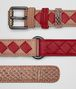 BOTTEGA VENETA DAHLIA/CHINA RED INTRECCIATO CHECK BELT Belt Woman rp