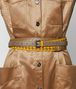 BOTTEGA VENETA SUNSET/CAMEL INTRECCIATO CHECK BELT Belt Woman ap