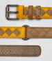 BOTTEGA VENETA SUNSET/CAMEL INTRECCIATO CHECK BELT Belt Woman rp