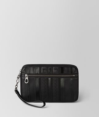 BORSA CITYDOC TECH STRIPE PICCOLA IN NAPPA NERO