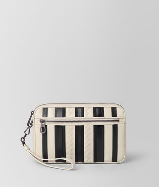 BORSA CITYDOC TECH STRIPE PICCOLA IN NAPPA MIST/NERO