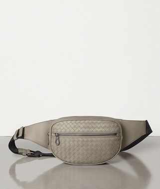 DARK CEMENT INTRECCIATO VN BELT BAG
