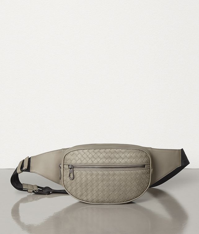BOTTEGA VENETA DARK CEMENT INTRECCIATO VN BELT BAG Belt Bag [*** pickupInStoreShippingNotGuaranteed_info ***] fp