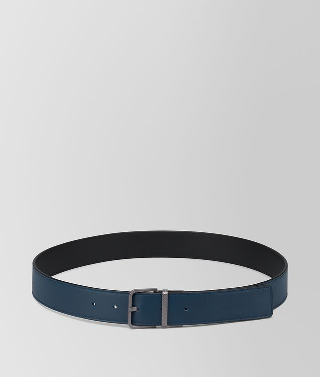 BOTTEGA VENETA NERO/DENIM CALF BELT Belt Man fp
