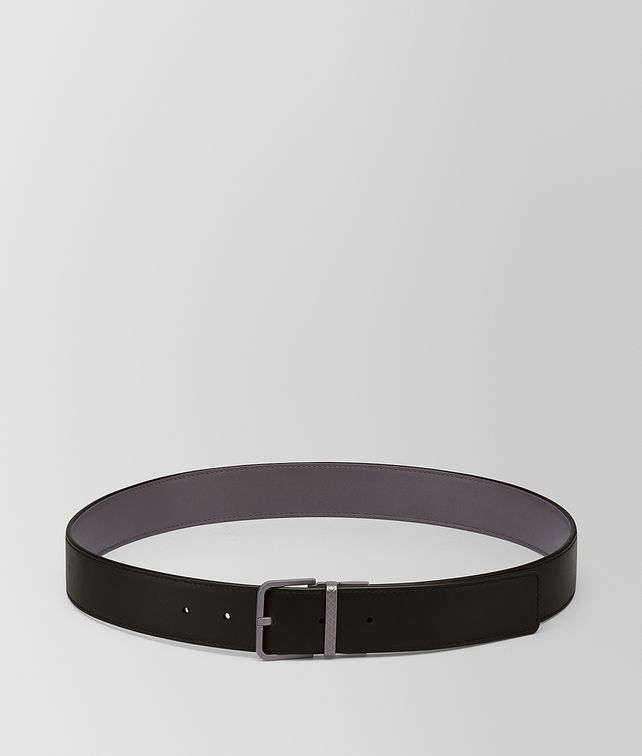 BOTTEGA VENETA NERO/ESPRESSO CALF BELT Belt [*** pickupInStoreShippingNotGuaranteed_info ***] fp