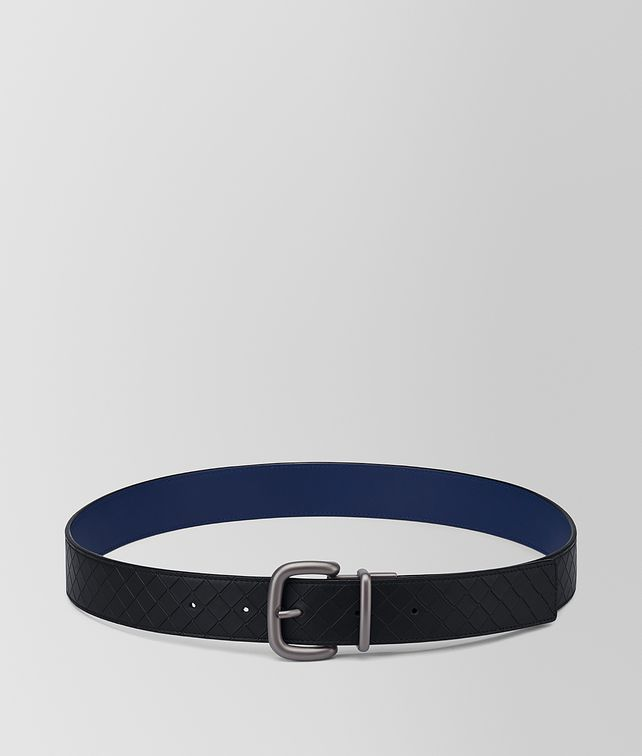 BOTTEGA VENETA NERO/ATLANTIC CALF BELT Belt [*** pickupInStoreShippingNotGuaranteed_info ***] fp