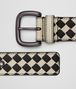 BOTTEGA VENETA CEMENT/NERO INTRECCIATO CHECKER NAPPA BELT Belt Man rp