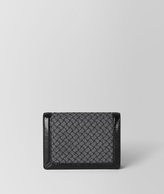 METALLIC NERO INTRECCIATO KNITTED CHAIN WALLET