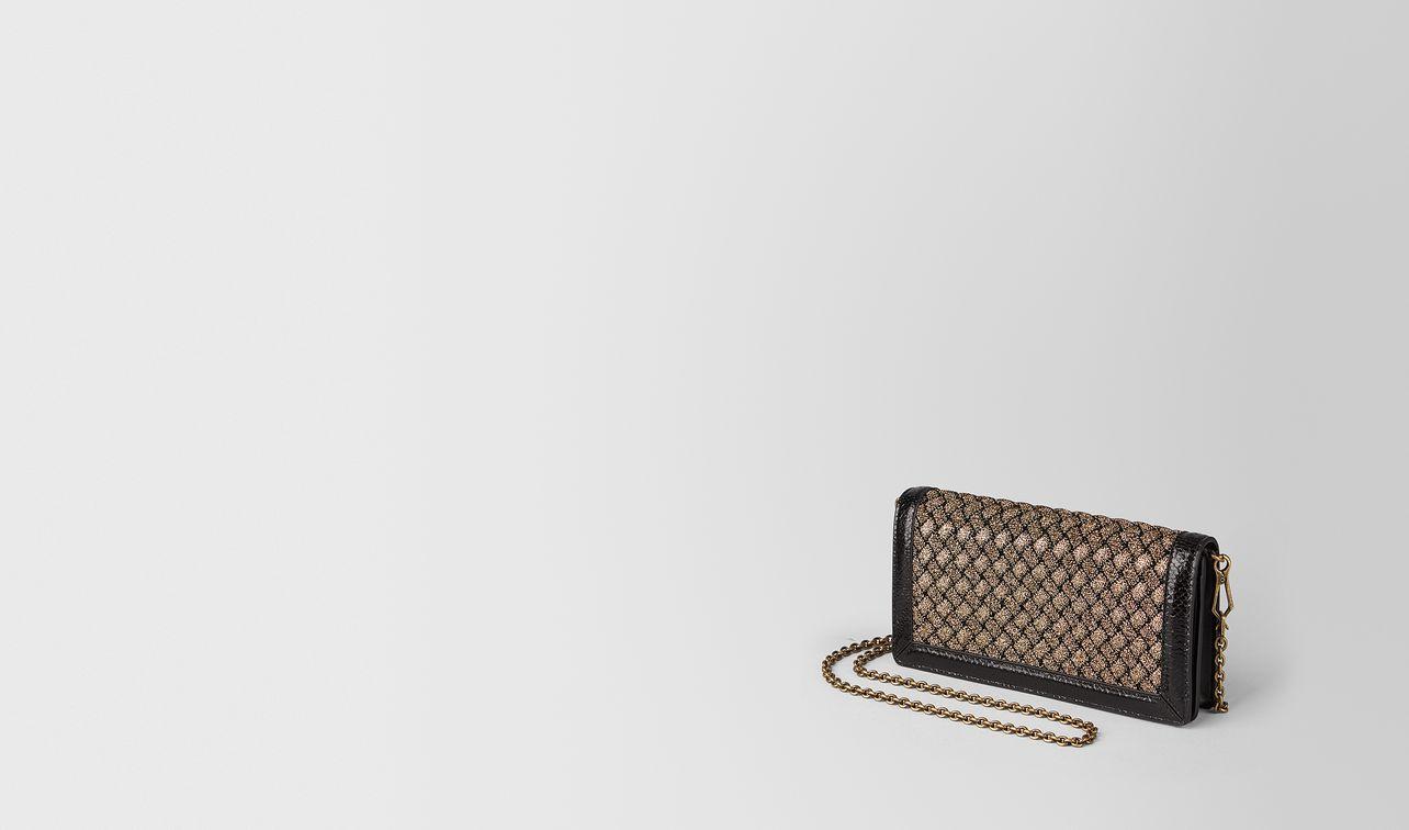 oro bruciato intrecciato knitted chain wallet landing